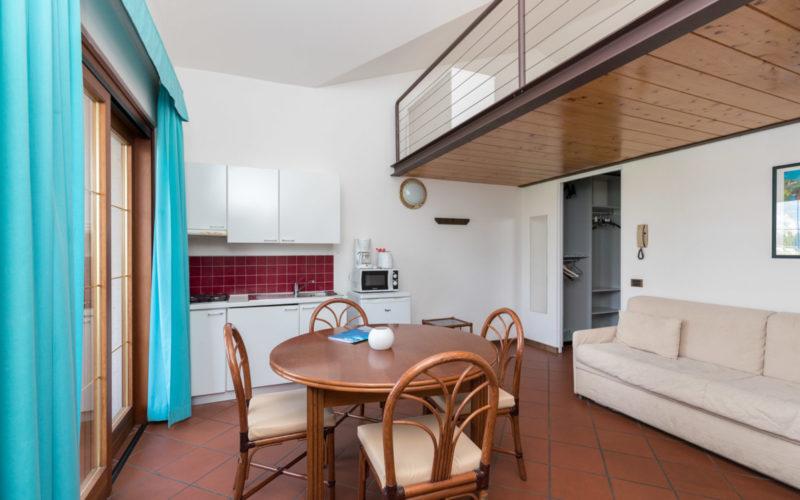 appartamento monolocale per sei persone